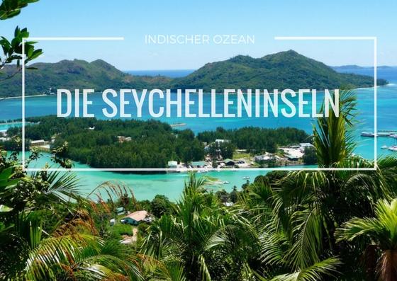 Blick von Seychelleninsel Praslin auf umliegende Inseln