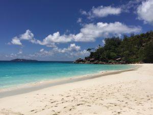 Der Traumstrand Anse Gorgette auf der Seychellen Insel Praslin