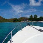 Bootsfahrt Richtung Curieuse, Seychellen