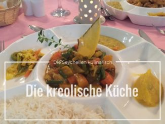 Kreolisches Essen - Teller mit Gemüse Curry
