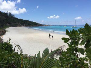 Petit Anse Strand auf La Digue, Seychellen