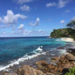Die unberührte Police Bay im Süden von Mahe, Seychellen