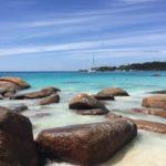 Seychellensteine am Anse Lazio auf Praslin