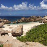 Traumhafter Strandblick auf der Seychellen Insel La Digue