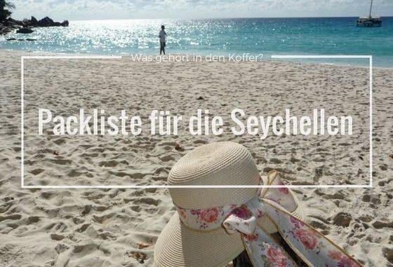 Packliste für die Seychellen - Sonnenhut am Strand